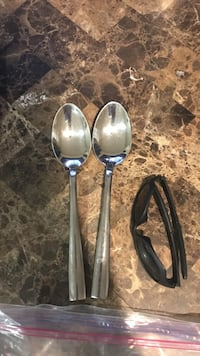 two large stainless steel spoon  Edmonton, T6L 5M4