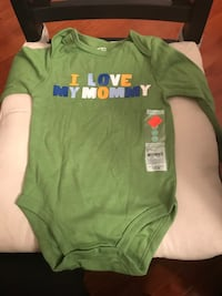 NEW I Love My Mommy long sleeve Carter's onesie  Laurel, 20724