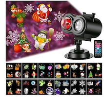 Christmas Projector Lights with12 Slide, Waterproof NEW IN BOX ½ PRICE