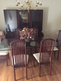 China Cabinet and Glass Top Dining Room Table and Chairs Springfield, 22153