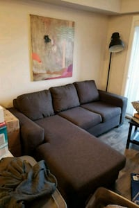 gray suede 2-seat sofa New Westminster