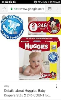 Huggies size 2 economy pack