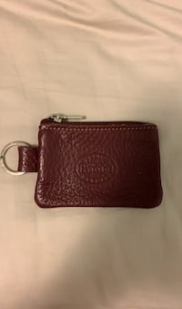 Roots Purple Leather Card Keychain Wallet  Oakville, L6J 6V5