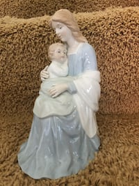 Mother and Baby Statue Ceramic Figurine