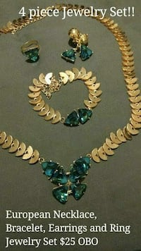 European Jewelry Set $25