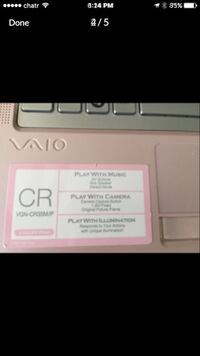 Pink sony vaio laptop. Old version but look new. Has CD player. Needs battery. Ottawa, K2B 7T1