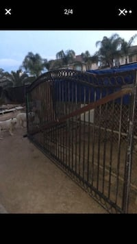 Rod iron heavy duty gate with motor keypad and 2 wireless remotes 178 inches wide 80 inches tall Perris, 92571