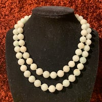 Vintage Icy White Jade Necklace Hand Knotted Ashburn, 20147