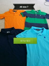 three assorted color polo shirts Houston, 77099