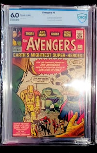 Avengers #1 CBCS 6.0 OW/W (1963)