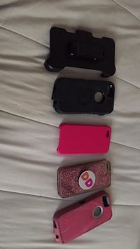 three black, red, and purple iPhone cases Gloversville