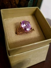 NewWTags!  Vanna K by Belle Luce Oval Lavendar Rond In 18kt Rose Size7 Omaha, 68105