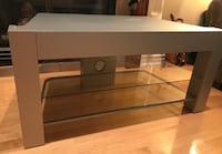 Corner table with glass shelves from ikea