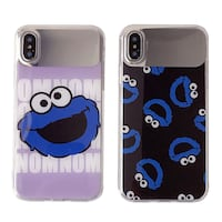 SESAME STREET CARTOON PRINT CUSTOM APPLE IPHONE CASES IN BLUE Istanbul