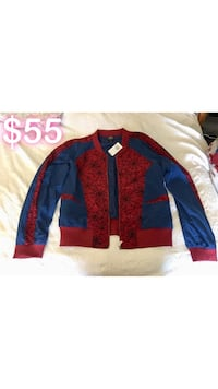 SpiderMan Bomber Jacket - XL - New with Tags Riverside, 92503