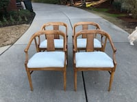 4 or 6 MCM dining chairs