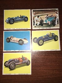 5 Vintage Indy Winners Collector Cards