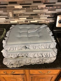 4 Chair Cushions w/ Ties Silver Spring, 20905