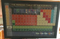 Framed periodic table of elements  East Prospect, 17368