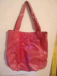 Pink leather tote bag Calhoun, 30701