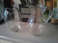 clear glass pitcher and heavy  vase  Tijeras, 87059
