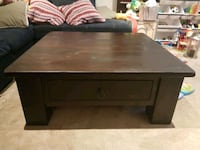 Solid brown square coffee table 543 km