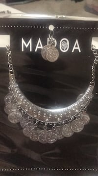 silver-colored necklace with earrings San Antonio, 78255