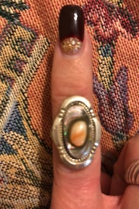 Handmade Native American Abalone and unknown other natural stone.  Bristol, 19007