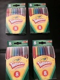 8 pack twistable crayons