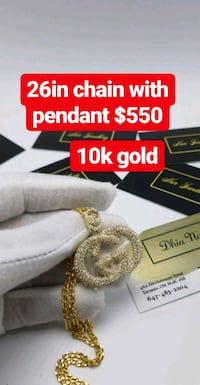 "10k real gold 26"" chain with cz pendant  Toronto, M1K 1N8"