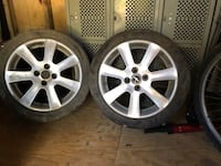 four gray 5-spoke vehicle wheels and tires Bethesda, 20816