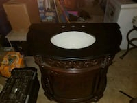 Wood and Marble Sink Cabinet 27 mi