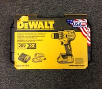 DeWalt 20V Compact Brushless Drill/Driver Kit *NEW IN BOX* Includes 2 Lithium Ion Batteries/Charger/Belt Hook/Kit Box DCD791D2 Wethersfield, 06109