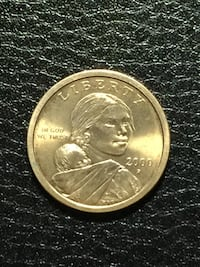 round coin collectible year 2000 Sacajawea