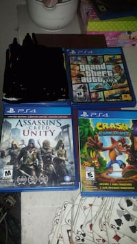four Sony PS4 game cases Winnipeg, R2X 1C1