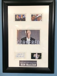 Framed and Autographed Ron Maclean pics. Co host of Hockey Night in Canada with Don Cherry. Price reduced and now firm. Thanks Edmonton, T6E 2X4