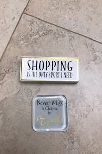 Shopping sign and never miss a chance to sparkle paper weight East Islip, 11730