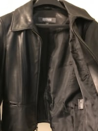 Kenneth Cole Women Leather Jacket Size Small Dark Brown Annandale, 22003
