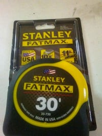 black and yellow Stanley Fatmax tape measure Frederick, 21701