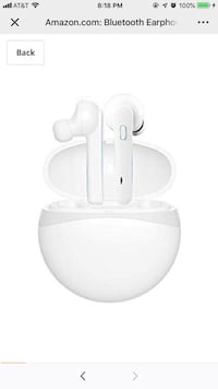Bluetooth Earphones,True Wireless Headphones Blutooth 5.0 TWS in-Ear Earbuds IPX5 Waterproof Mini Headset 5H Playtime 3D Stereo Sound Sport Earpiece with Mic and Portable Charging Case (White) Springfield, 22153