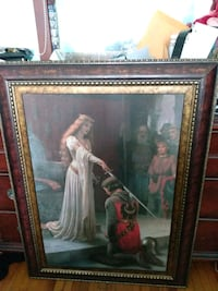 QUEEN NKIGHTING A KNIGHT OR ACCALADING HIM IN YHE DARK AGES..30$