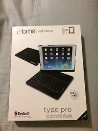 Read this Ihome wireless laptop style keyboard case box.