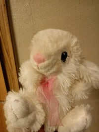 white and pink rabbit plush toy Humble, 77346