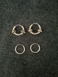 New small silver hoop earrings $5 each Burlington