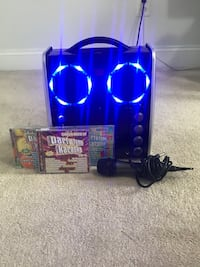 Karaoke Set.  Excellent condition.  Microphone and 3 CDs included Sudbury, 01776