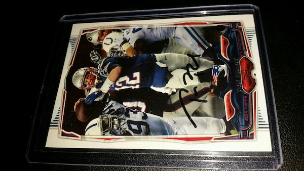 Used Patriots TOM BRADY Autographed card for sale in Revere - letgo 721e1bdb0
