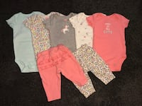 5 Carters onesies 3m  2 Carters pants 3m  New Westminster, V3L 0E7