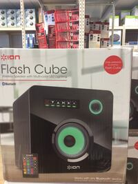 Ion flash cube wireless speaker with multi-color LED lighting box