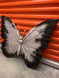 """'Beautiful Butterfly' Wall Art Decor  (Very Large)(36""""W x 26""""H) (Black and Gray Colored)"""
