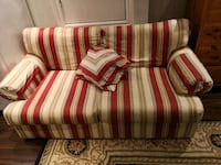red and white striped fabric loveseat Milton, L9T 0C8